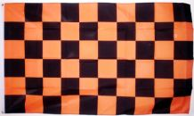 CHECKERED BLACK & GOLD - 5 X 3 FLAG